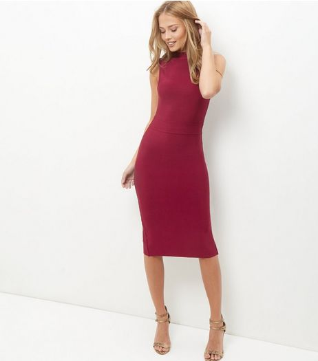 Red Premium Bandage Bodycon Dress | New Look