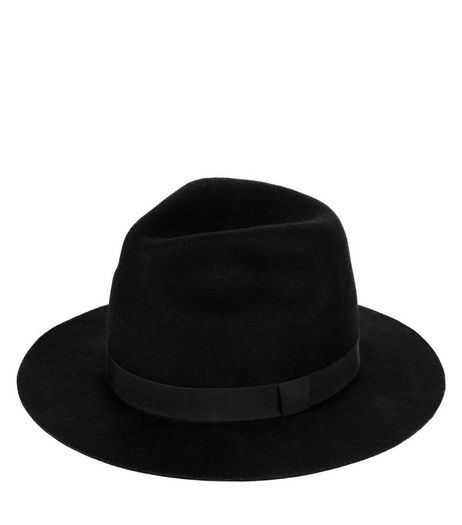 Black High Crown Fedora | New Look