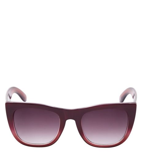Burgundy Retro Sunglasses | New Look