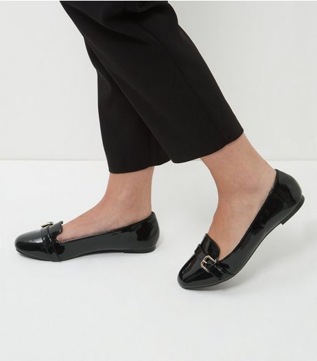 Wide Fit Black Patent Mary Jane Pumps  | New Look