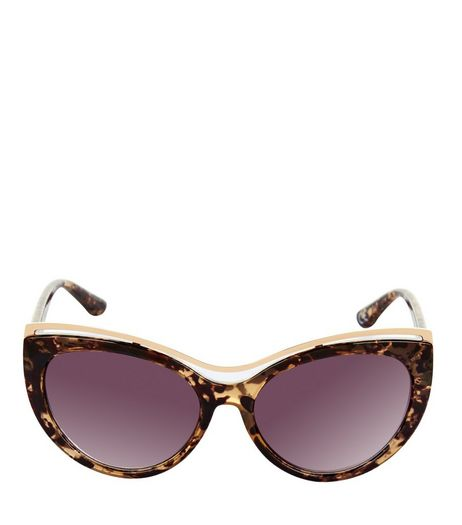 Brown Tortoiseshell Print Cat Eye Sunglasses | New Look