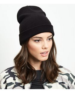 Black Beanie Hat | New Look