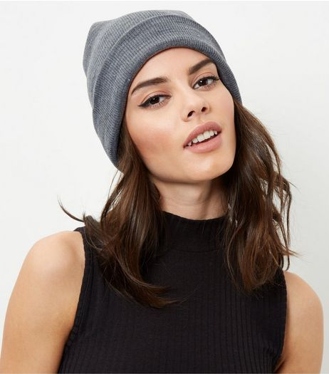 Dark Grey Beanie Hat | New Look