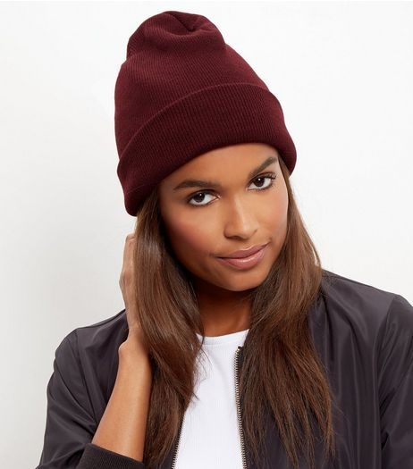 Burgundy Beanie Hat | New Look