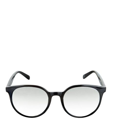Black Round Frame Sunglasses | New Look