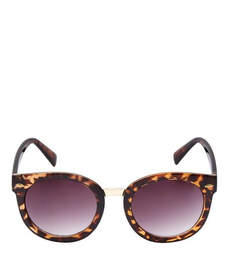 Brown Tortoiseshell Print Sunglasses  | New Look