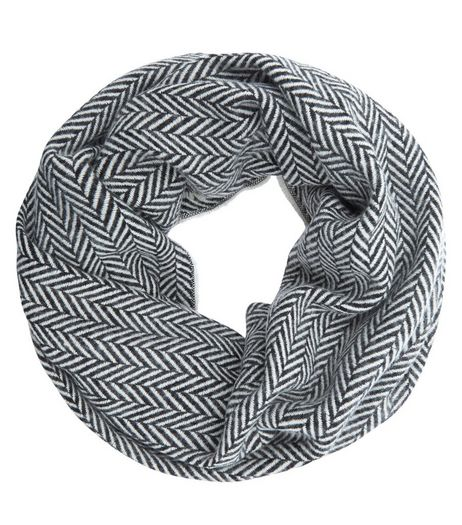 Dark Grey Herringbone Snood | New Look