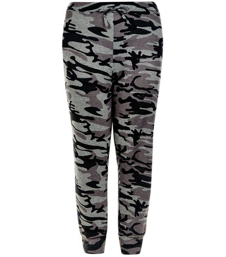 Curves Green Camo Print Joggers | New Look