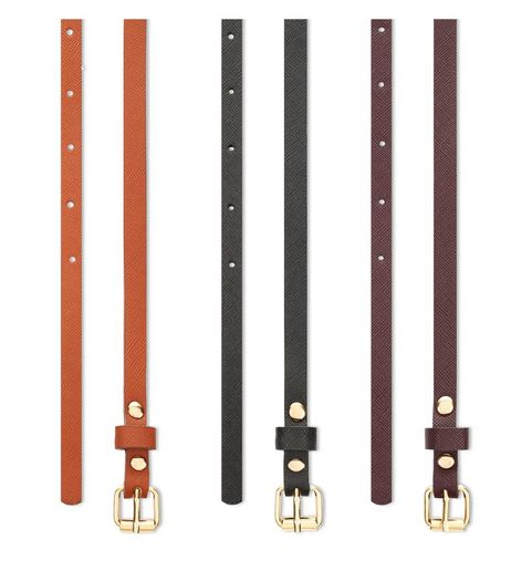3 Pack Orange Black and Burgundy Belts  | New Look
