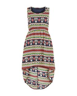 Mela Multicoloured Skull Stripe Dress | New Look