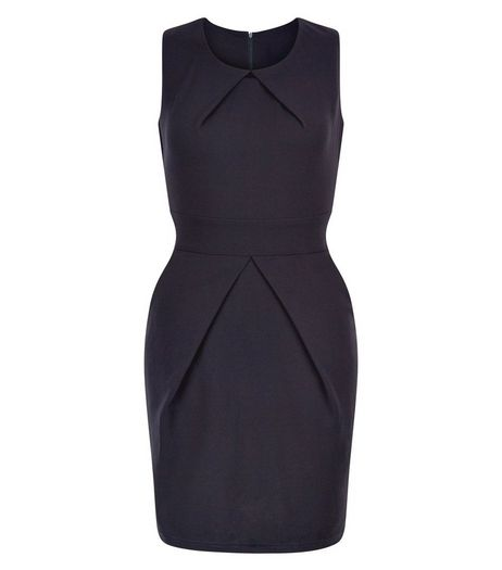 Mela Navy Tulip Tie Back Dress | New Look