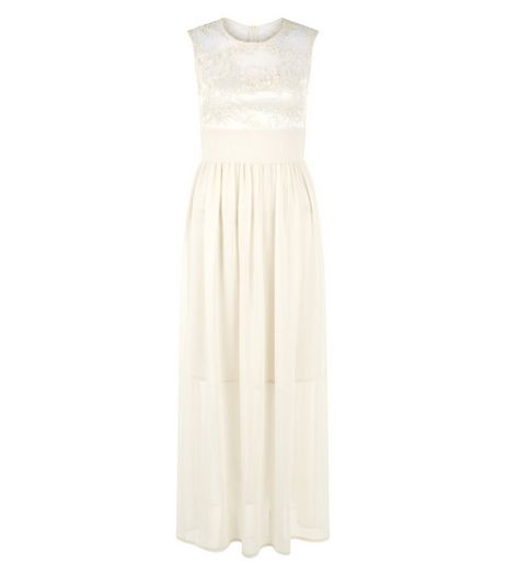 Mela Cream Lace Sleeveless Maxi Dress | New Look