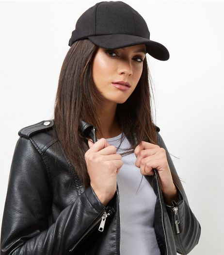 Black Felt Cap | New Look