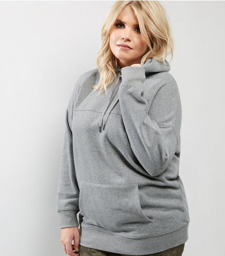 Curves Dark Grey Oversized Hoodie | New Look