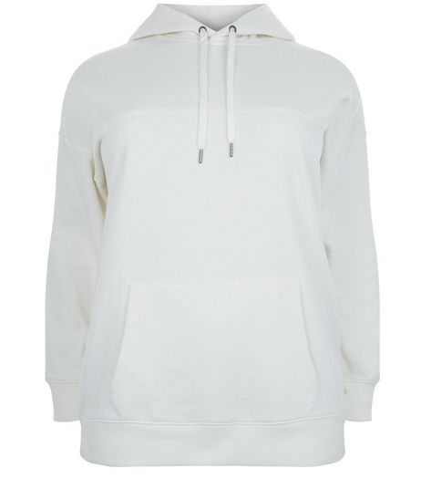 Curves Cream Oversized Hoodie | New Look