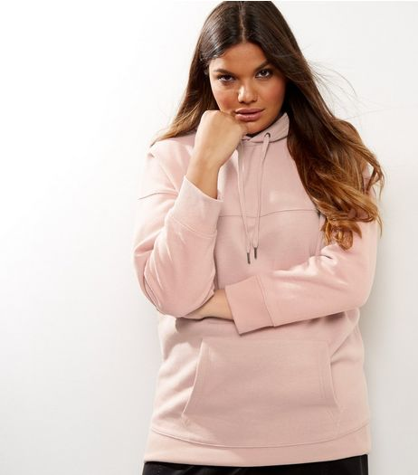 Curves Pink Oversized Hoodie | New Look
