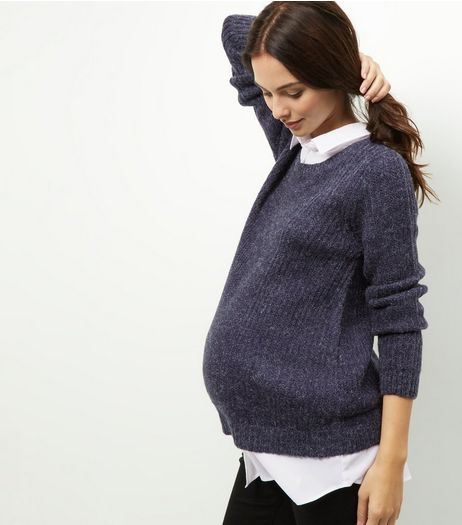 Maternity Navy 2 in 1 Jumper  | New Look