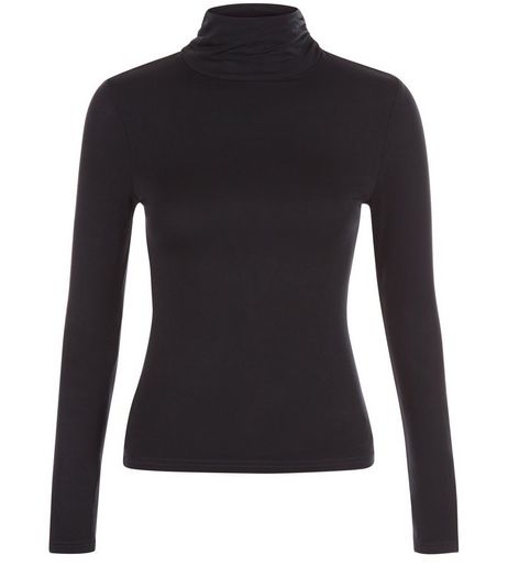 Petite Black Turtle Neck Top | New Look