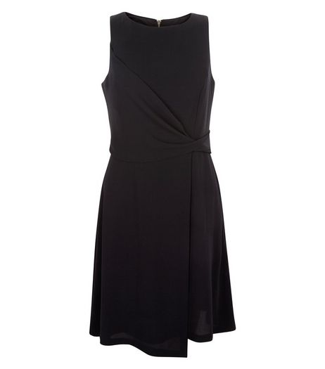 Black Knot Front Drape Dress | New Look