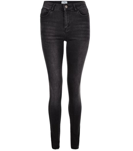 Tall Black Washed Skinny Jeans | New Look