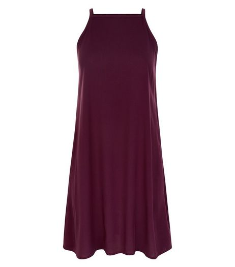 Teens Burgundy Slip Dress | New Look