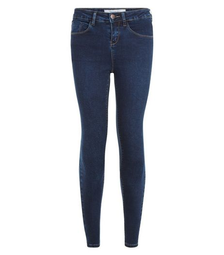 Petite Blue Denim Supersoft Super Skinny Jeans | New Look