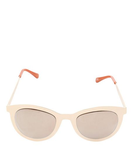Rose Gold Wayfarer Sunglasses | New Look