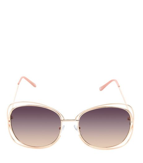 Gold Clear Frame Sunglasses | New Look