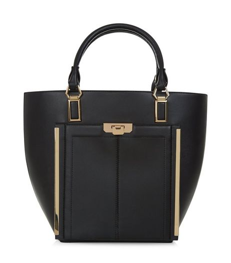Black Leather-Look Tote Bag | New Look