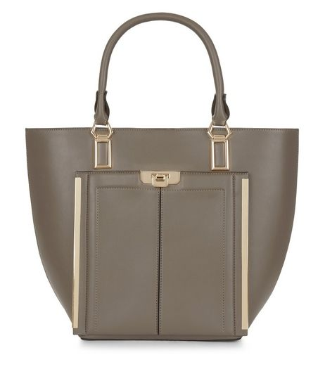 Mink Leather-Look Tote Bag | New Look