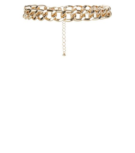 Gold Chunky Chain Anklet  | New Look