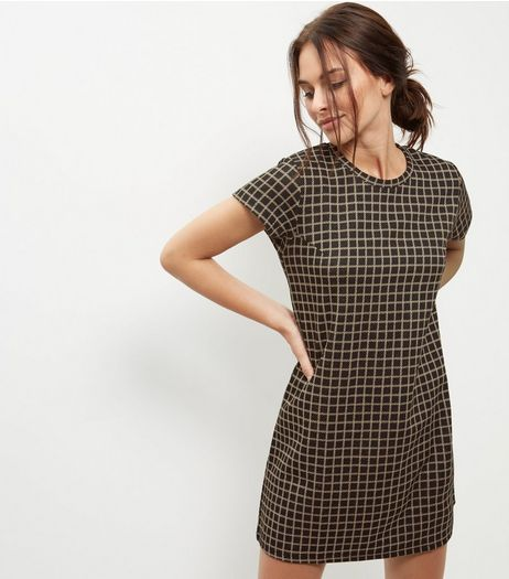 Blue Vanilla Black Check Tunic Dress | New Look