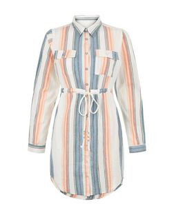 Blue Vanilla White Stripe Shirt Dress | New Look