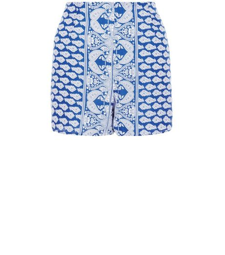 Parisian Blue Paisley Print Shorts | New Look