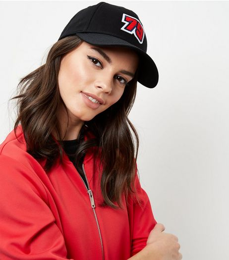 Black 79 Badge Baseball Cap | New Look