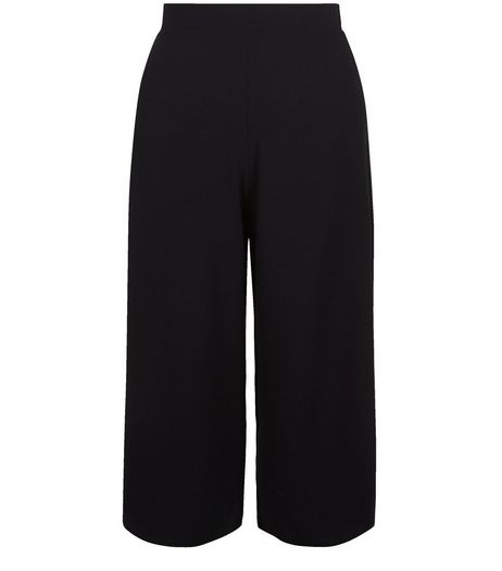 QED Black Crepe Culottes | New Look
