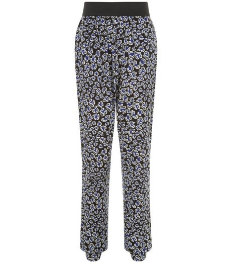 Teens Black Animal Print Trousers | New Look