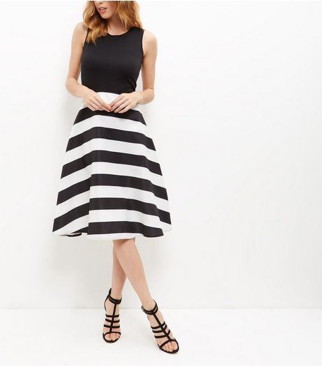 AX Paris Black Stripe 2 in 1 Dress | New Look