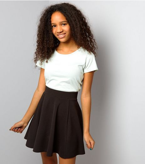 Teens Black Skater Skirt | New Look