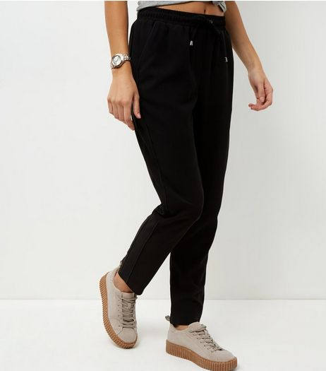 Black Side Stripe Joggers  | New Look