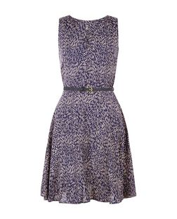 Apricot Navy Abstract Print Sleeveless Skater Dress | New Look