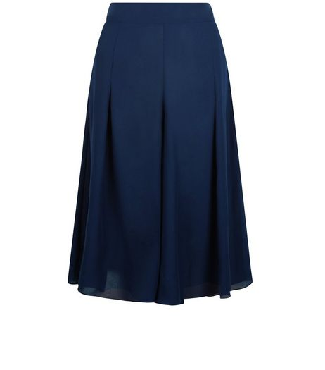 Blue Vanilla Navy Oversized Culottes | New Look