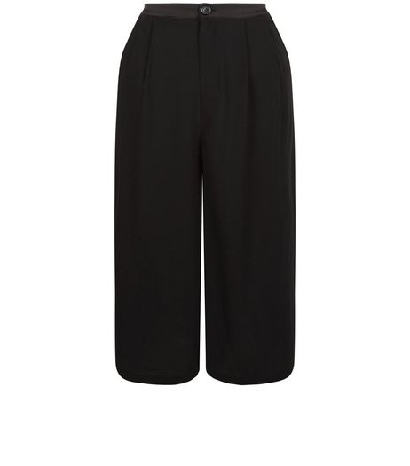 Blue Vanilla Black Satin Trim Culottes | New Look