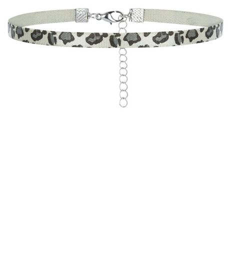 Black Leopard Print Choker | New Look