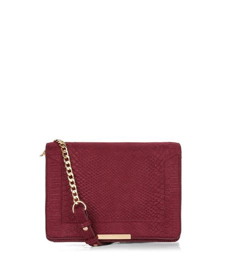 Red Structured Chain Shoulder Bag | New Look