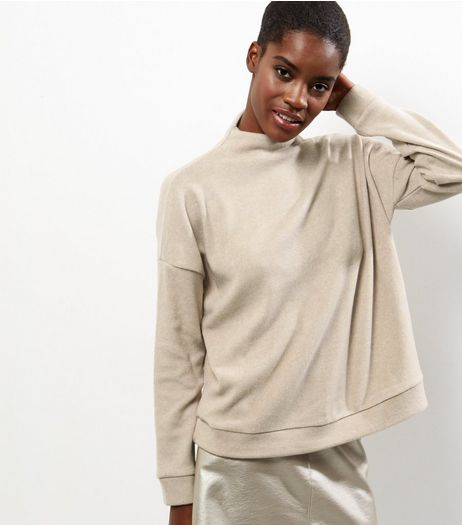 Camel Fine Knit Funnel Neck Sweater   | New Look
