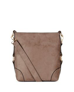 Mink Suedette Bucket Bag  | New Look