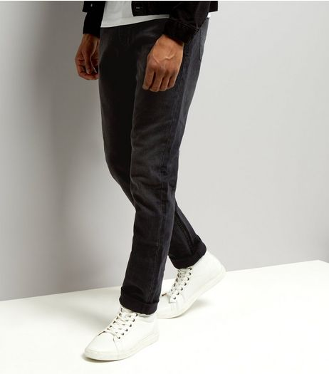 Black Washed Slim Fit Jeans | New Look