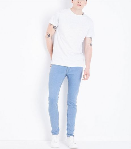 Pale Blue Light Washed Super Skinny Jeans  | New Look