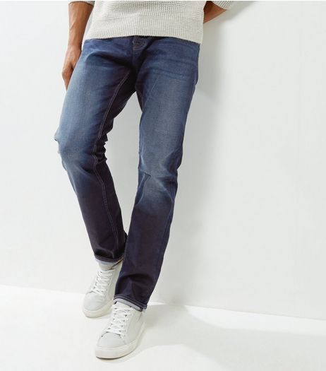 Blue Black Straight Leg Jeans  | New Look